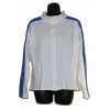 Zip Front Long Sleeve Jacket - XL Royal/White